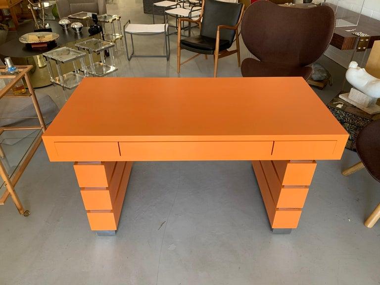 American Bridges over Time Originals Custom Orange Desk For Sale