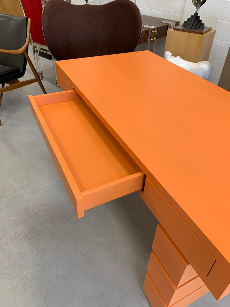 Contemporary Bridges over Time Originals Custom Orange Desk For Sale