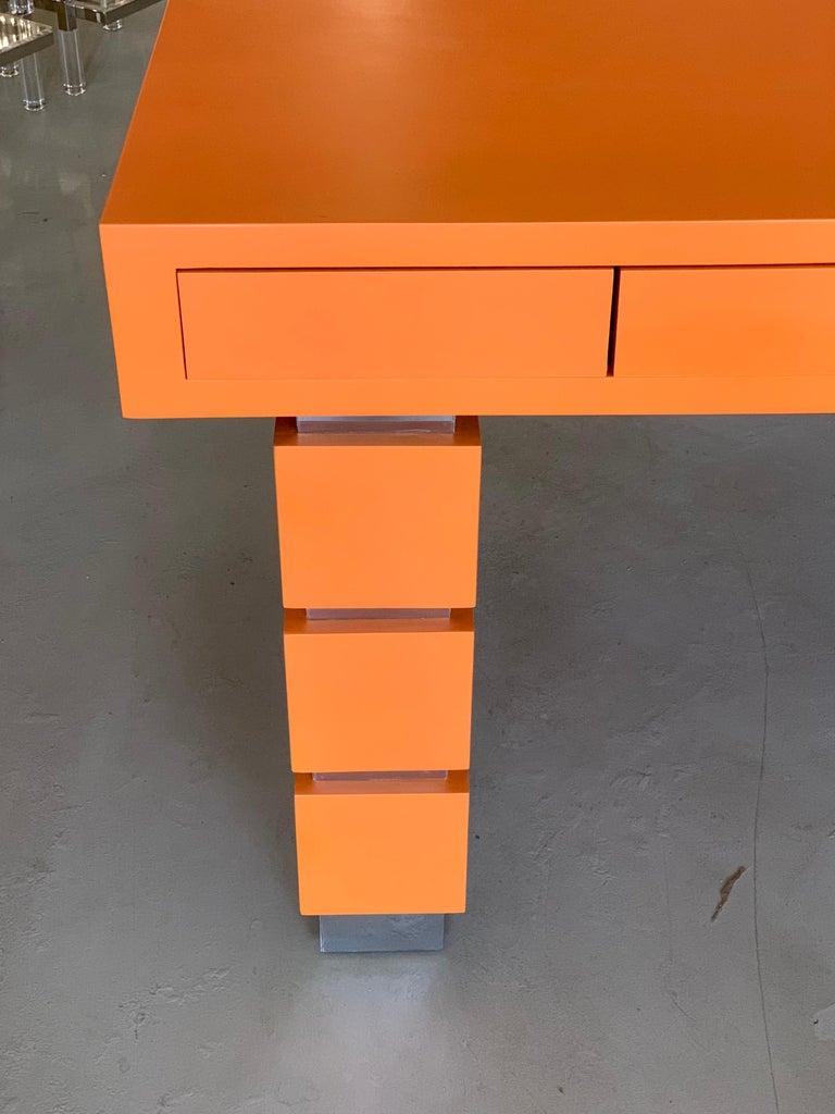 Bridges over Time Originals Custom Orange Desk For Sale 1