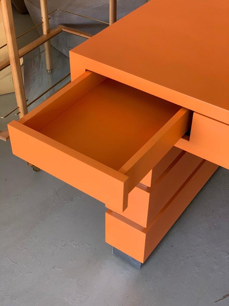 Bridges over Time Originals Custom Orange Desk For Sale 2
