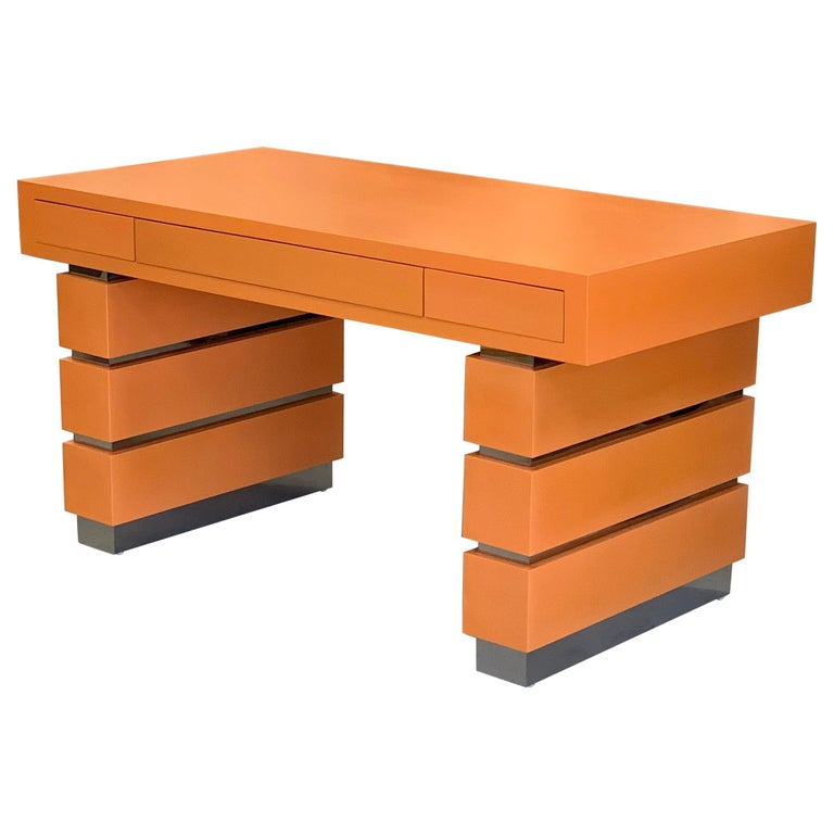 Bridges over Time Originals Custom Orange Desk For Sale