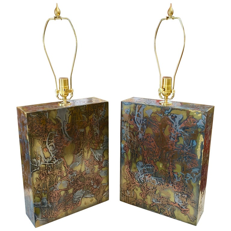 Bridges Over Time Originals Mixed Metal Lamps For Sale