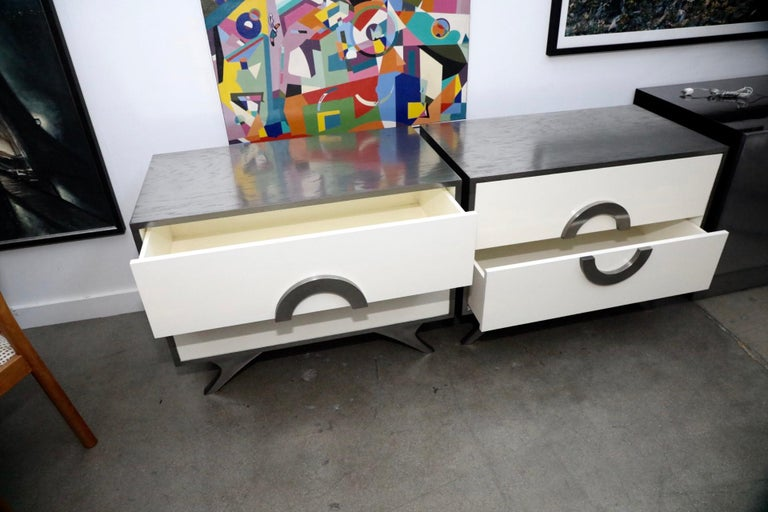 Pair of Bridges over Time originals Nightstands or End Tables For Sale 5
