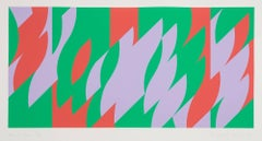 About Lilac -- Screen Print, Abstract, Op Art by Bridget RIley