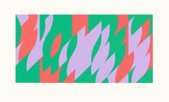 About Lilac - Screenprint, Abstract prints, Op Art, Contemporary Art