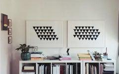 Bagatelle 1 & 2 -- Pair, Screen Print, Abstract, Op Art by Bridget Riley