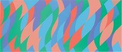 Between the Two - screenprint abstract prints op art contemporary art