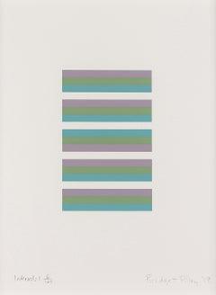 Intervals 1 -- Screen Print, Stripes, Patterns, Op Art by Brigdet Riley
