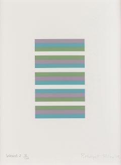 Intervals 2 -- Screen Print, Stripes, Patterns, Op Art by Brigdet Riley