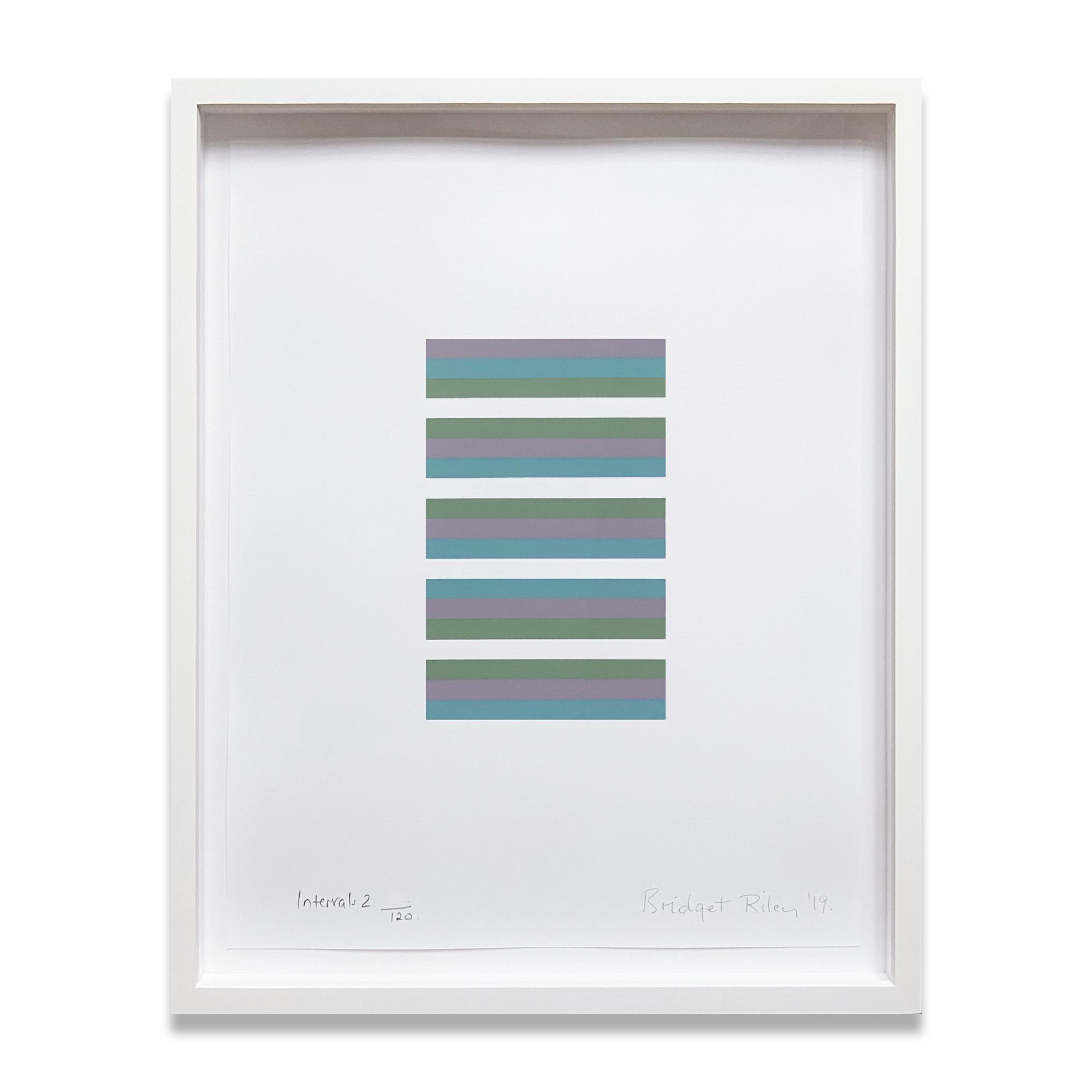 Intervals 2, Screenprint, 2019, Minimalism, Abstract Geometric, Op Art