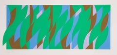 Leap -- Screen Print, Abstract, Op Art by Bridget RIley