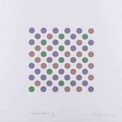 Measure for Measure -- Screen Print, Dots, Op Art by Bridget Riley