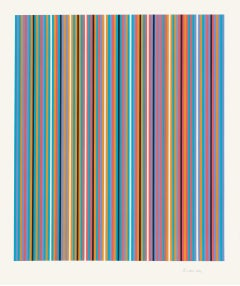Ra Inverted (Schubert 69), Limited Edition Screen Print by Bridget Riley