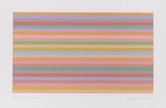 Rose Horizontal -- Screen Print, Stripes, Patterns, Op Art by Bridget Riley