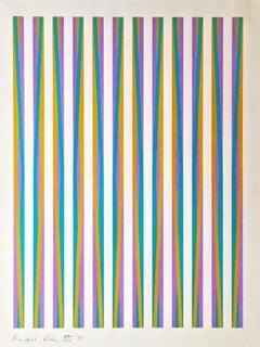 Untitled [Chicago Eight] -- Screen Print, Stripes, Op Art by Bridget Riley