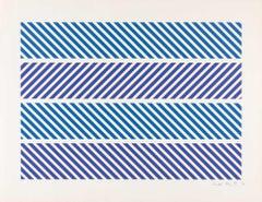 Untitled -- Print, Screen Print, Stripes, Patterns, Op Art by Bridget Riley