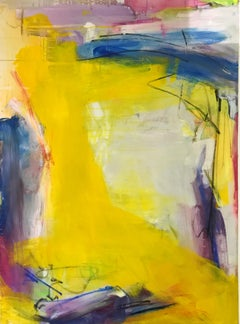 Untitled Yellow - original abstract painting by Bridgette Duran