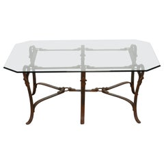 Bridle Strap Coffee Table in the Manner of Hermes, 20th Century
