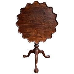 Rare Fine 18th Century China Trade Carved Padouk Tripod