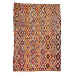 Bright Dazzling Bohemian Style Turkish Kilim