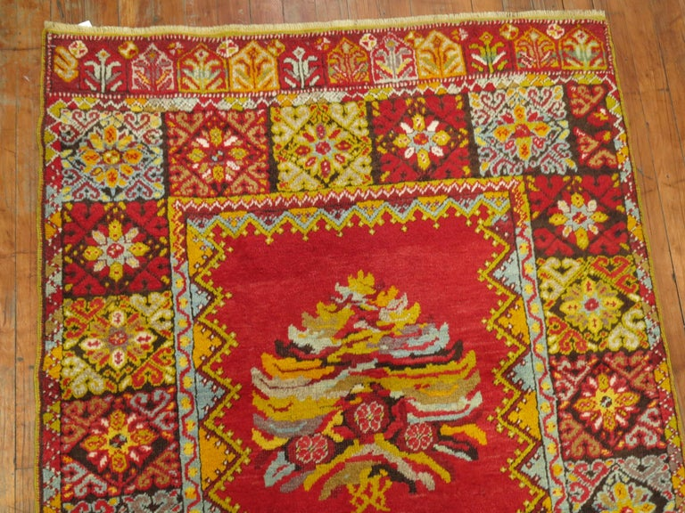 Bright Floral Turkish Runner For Sale 3