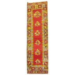 Bright Floral Turkish Runner