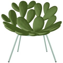 Bright Green Outdoor Cactus Chair, Designed by Marcantonio, Made in Italy