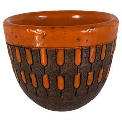 Bright Mid Century Pottery Bowl by Aldo Londi for Bitossi, Italy, 1960s