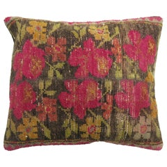Bright Pink Flower 20th Century Turkish Pillow