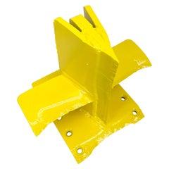 Bright Sunshine Yellow Abstract Eagle Head Iron Sculpture
