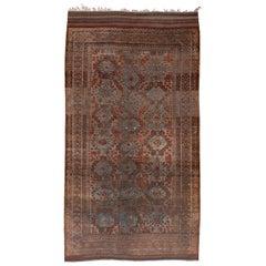 Bright Tribal Antique Belouch Carpet