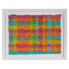 Brightly Colored Monoprint by Mel Bochner