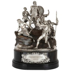 Brighton Cup, Very Large Silver and Bronze Horse Racing Trophy by Monti