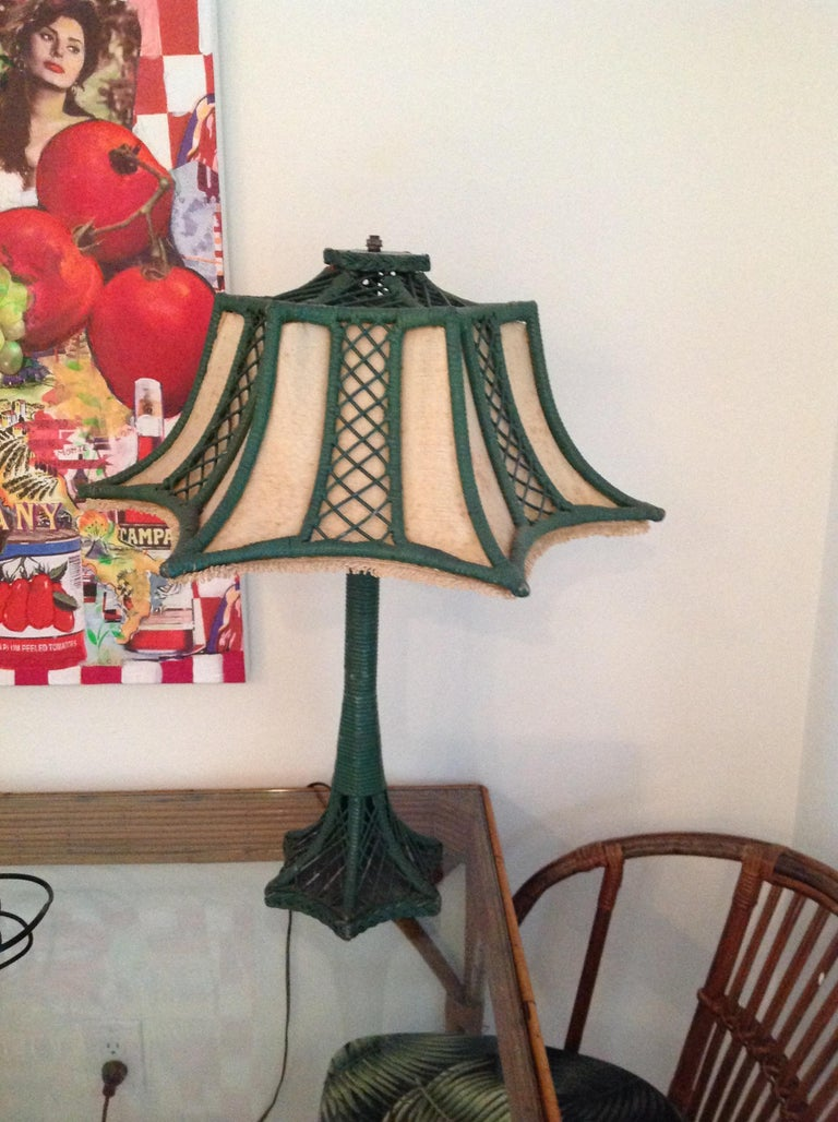Brighton Inspired Wicker Floor Lamp For Sale 5