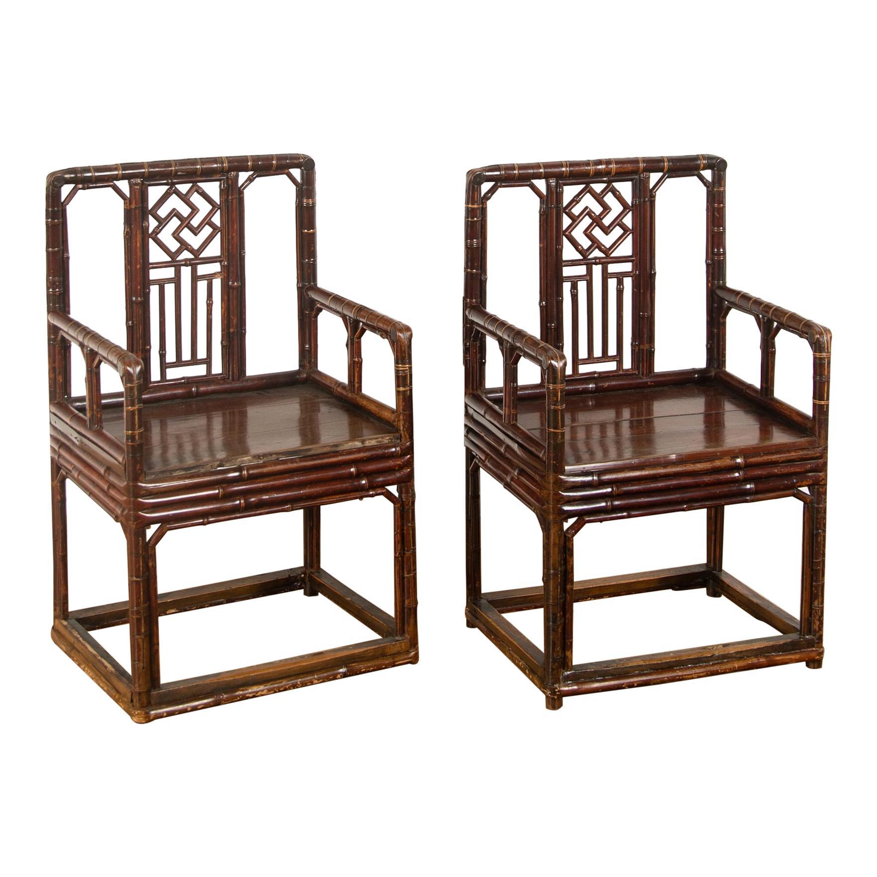Brighton Pavillion Style Bamboo Armchairs