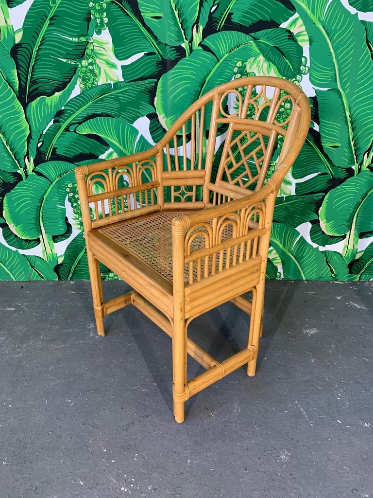 Hollywood Regency Brighton Pavilion Style Dining Chairs, Set of 4