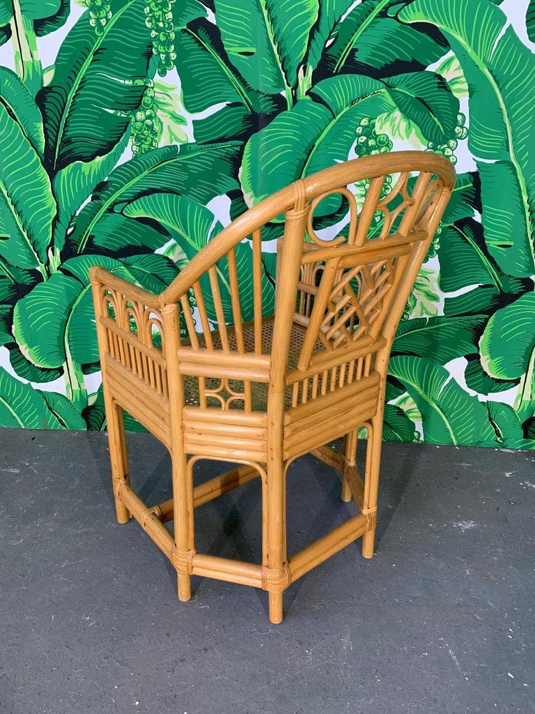 Brighton Pavilion Style Dining Chairs, Set of 4 In Good Condition In Jacksonville, FL