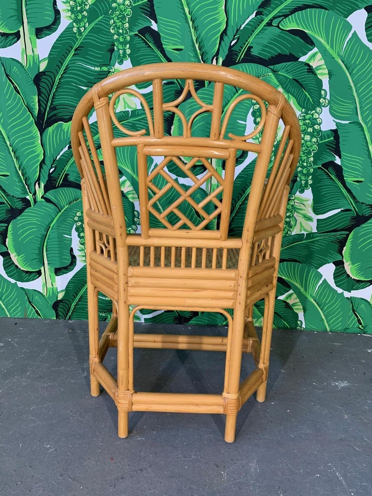 Mid-20th Century Brighton Pavilion Style Dining Chairs, Set of 4