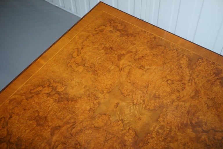 20th Century Brights of Nettlebed Burr Walnut Double Sided Four Drawer Coffee Table