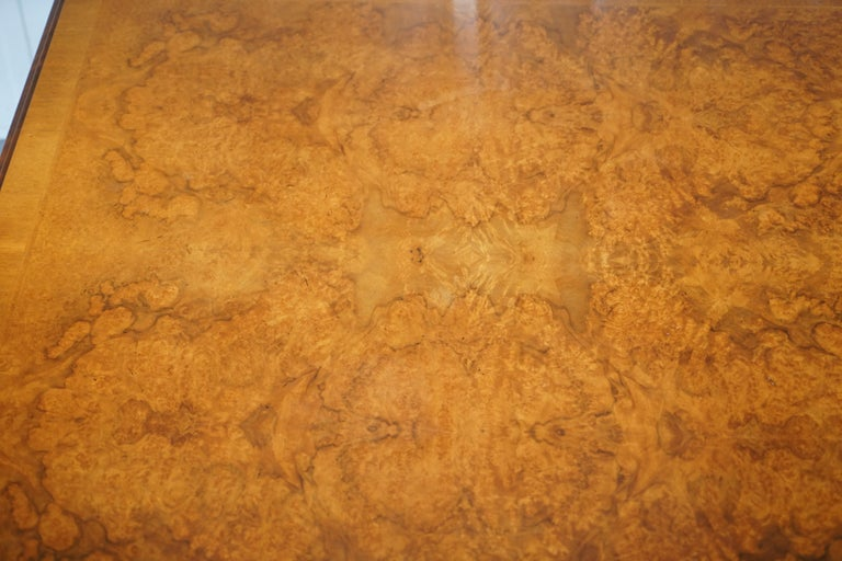 Brights of Nettlebed Burr Walnut Double Sided Four Drawer Coffee Table 2
