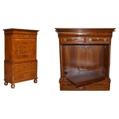 Brights of Nettlebed Burr Walnut Media Cabinet Television Stand Chest of Drawers