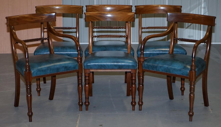 Brights of Nettlebed Burr Walnut Regency Extending Dining Table Chairs For Sale 4