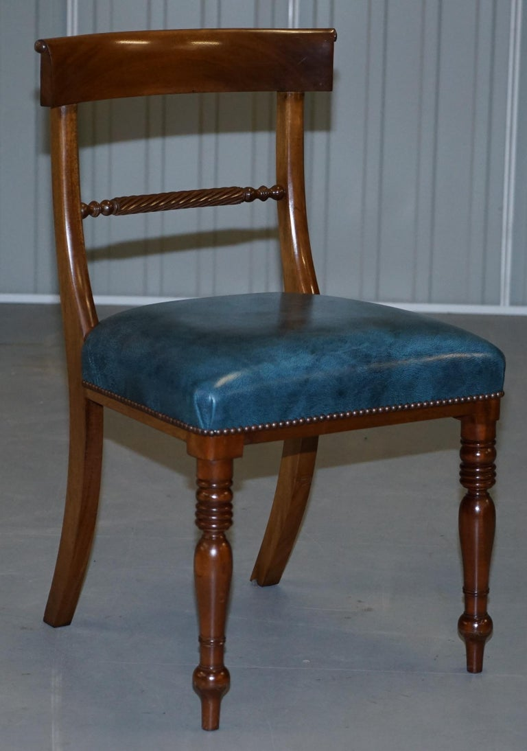 Brights of Nettlebed Burr Walnut Regency Extending Dining Table Chairs For Sale 5