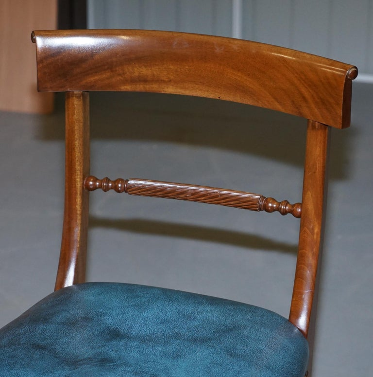 Brights of Nettlebed Burr Walnut Regency Extending Dining Table Chairs For Sale 7