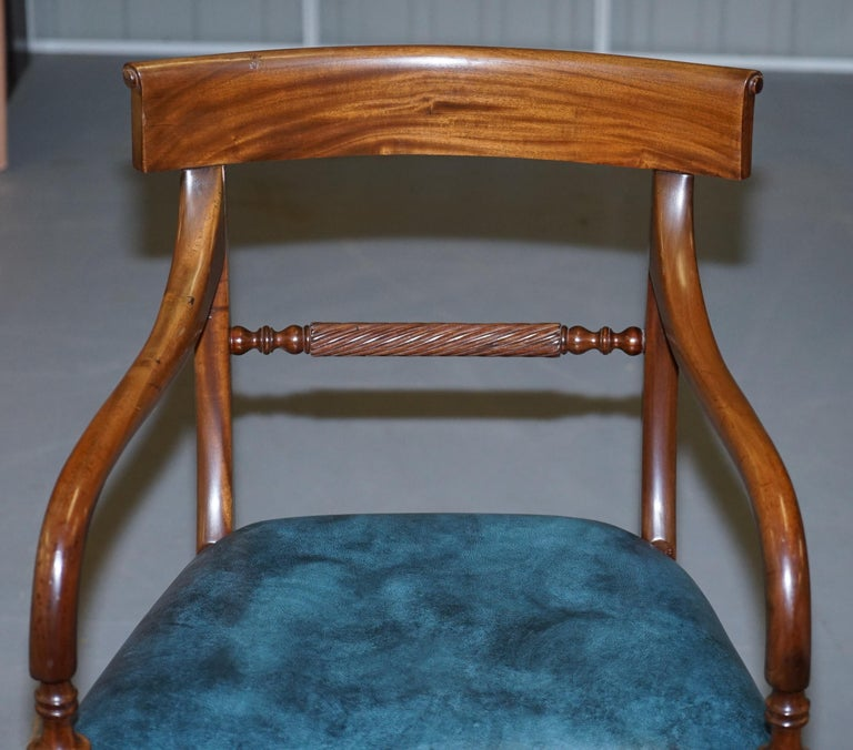 Brights of Nettlebed Burr Walnut Regency Extending Dining Table Chairs For Sale 12