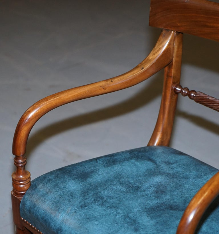 Brights of Nettlebed Burr Walnut Regency Extending Dining Table Chairs For Sale 13