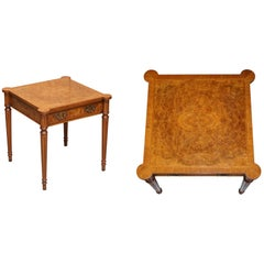 Brights of Nettlebed Burr Walnut Side Table Sublime Timber Matching Coffee Table