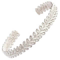 Brigitte Adolph Sterling Silver Bordure Cuff Bangle