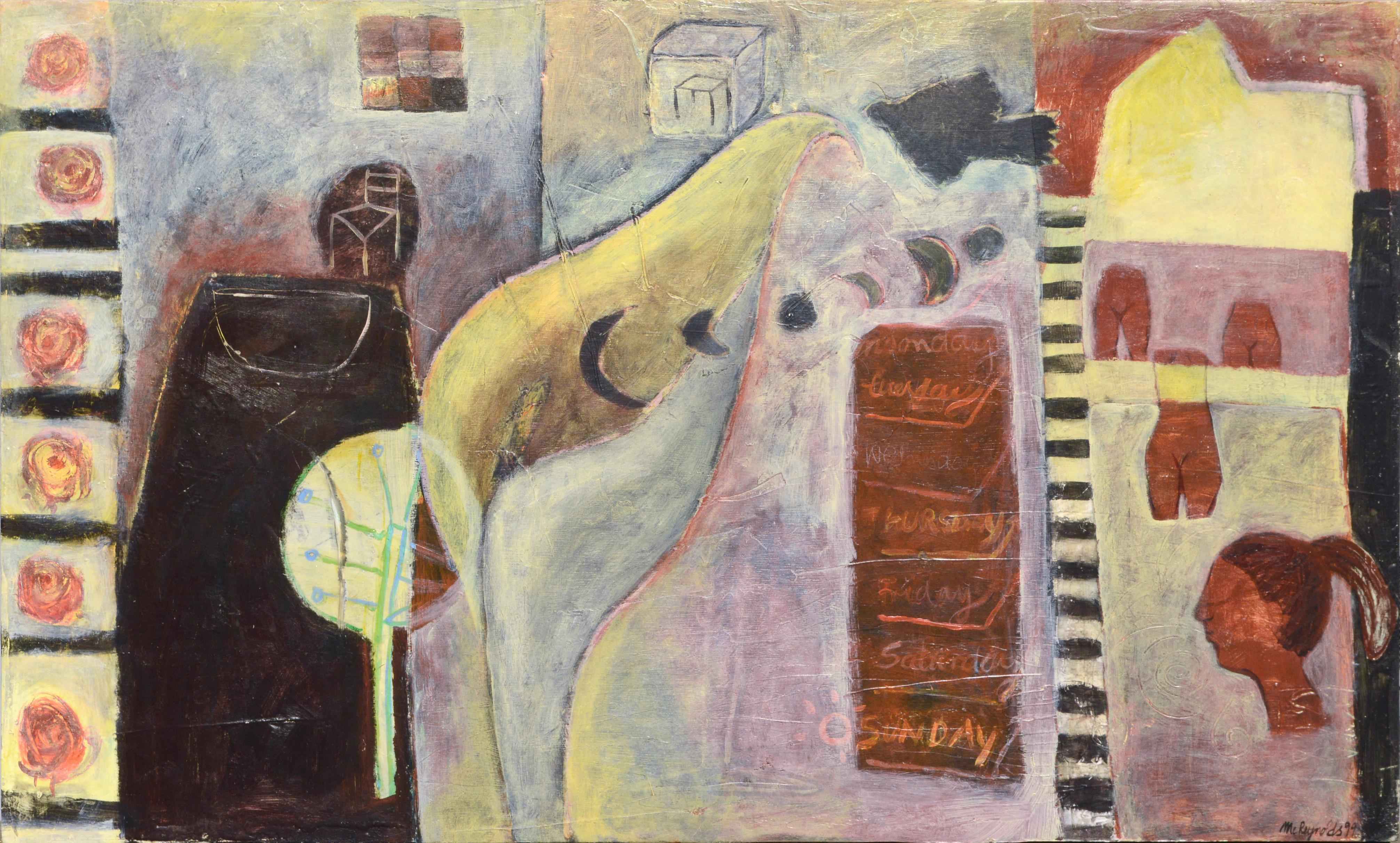 """""""Moonday through Sunday"""" - Figurative Abstract"""