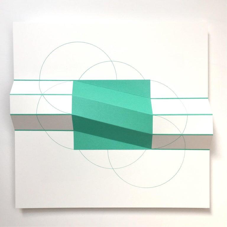 Brigitte Parusel, Spatial Hybrid 3, 2018, Folded Screenprint, Minimalism - Minimalist Print by Brigitte Parusel
